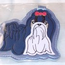 LUGGAGE TAG LHASO APSO OR SHIH TZU NEW GANZ IDENTIFY YOUR LUGGAGE EASILY