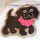 LUGGAGE TAG BLACK LAB PUPPY DOG NEW GANZ IDENTIFY YOUR LUGGAGE EASILY