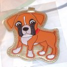 LUGGAGE TAG BOXER PUPPY DOG NEW GANZ IDENTIFY YOUR LUGGAGE EASILY