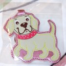 LUGGAGE TAG YELLOW LAB PUPPY DOG NEW GANZ IDENTIFY YOUR LUGGAGE EASILY