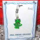 CHARM GREEN FROG CELL PHONE PURSE CHARM NEW GANZ