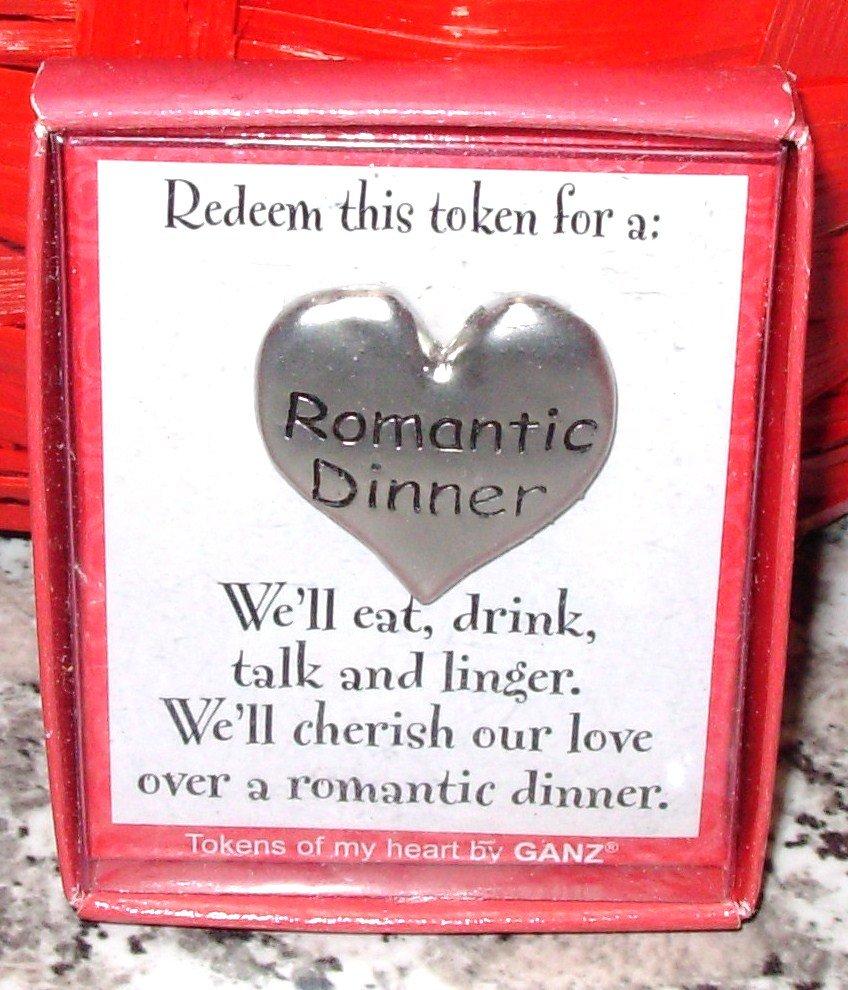 ROMANTIC DINNER HEART TOKEN REDEEMABLE GIFT ITEM NEW GANZ