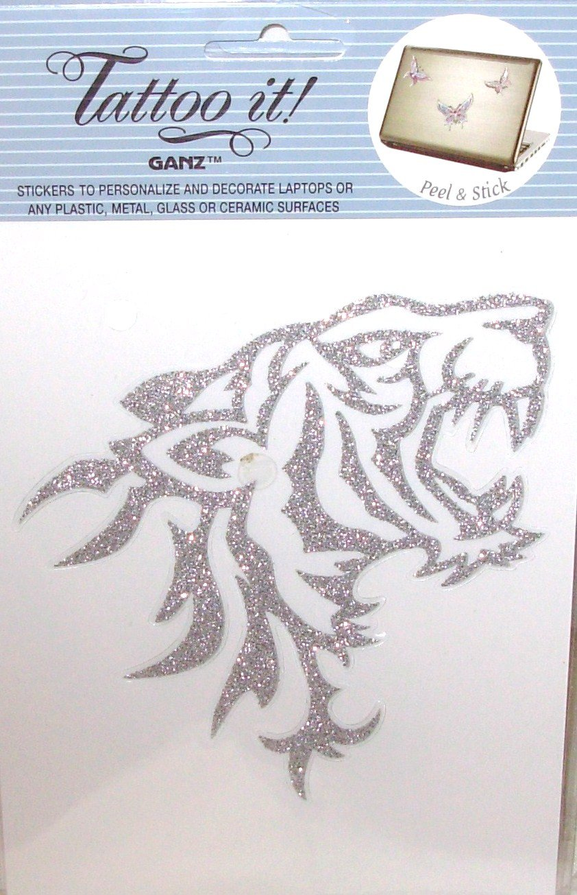 TIGER LAPTOP TATTOO SKIN UNIVERSAL PEEL AND STICK REUSABLE PERSONALIZE DECORATE