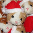 LIL GUINEA PIGS IN SANTA HAT PLUSH STUFFED ANIMAL TOY NEW GANZ CHRISTMAS STOCKING STUFFER