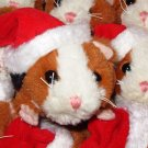 CALICO LIL GUINEA PIGS IN SANTA HAT PLUSH STUFFED ANIMAL TOY NEW GANZ CHRISTMAS STOCKING STUFFER