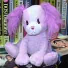 PAPILLON PUPPY DOG STUFFED ANIMAL LAVENDER PLUSH NEW GANZ TOY
