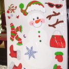 WINDOW CLING LET IT SNOW SNOWOMAN DECORATE CHRISTMAS FUN