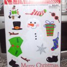 DRESS A SNOWMAN WINDOW CLING LET IT SNOW SNOWMAN DECORATE CHRISTMAS FUN