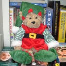 ELF BEAR 14 INCH TEDDYBEAR TEDDY BEAR STUFFED ANIMAL CHRISTMAS HOLIDAY PLUSH NEW GANZ