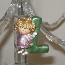 ANGEL ORNAMENT INITIAL L CHRISTMAS HOME DECOR HOLIDAY BIRTHDAY NEW GANZ
