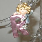 ANGEL ORNAMENT INITIAL R CHRISTMAS HOME DECOR HOLIDAY BIRTHDAY NEW GANZ