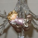 ANGEL ORNAMENT INITIAL W CHRISTMAS HOME DECOR HOLIDAY BIRTHDAY NEW GANZ