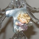 PERSONALIZED ANGEL ORNAMENT INITIAL T CHRISTMAS HOME DECOR HOLIDAY BIRTHDAY NEW GANZ