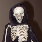 COSTUME SKELETON HALLOWEEN HANGING SHELF SITTER HOME DECOR DEATH NEW
