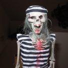 SKELETON IN COSTUME BALL AND CHAIN PRISONER HALLOWEEN HANGING SHELF SITTER HOME DECOR NEW