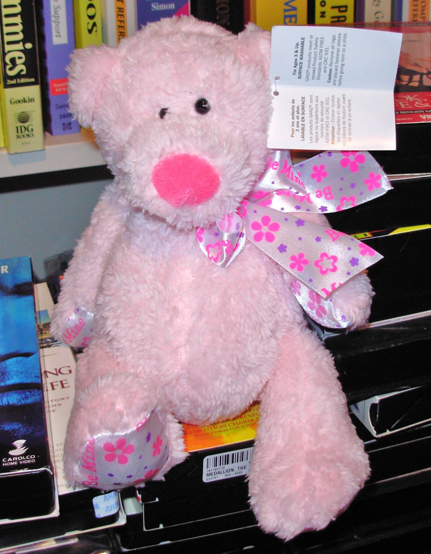 NEW MINI TUBBY TUMMIES BEAR SAYS BE MINE LIGHT PINK TEDDYBEAR PLUSH GANZ