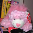 WILD ABOUT YOU LAZY LUVS PINK PLUSH LION STUFFED ANIMAL WITH A HEART NEW GANZ