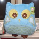 BLUE OWL PILLOW POLY KNIT BIRTH AND UP SURFACE WASHABLE NEW GANZ 12 INCH