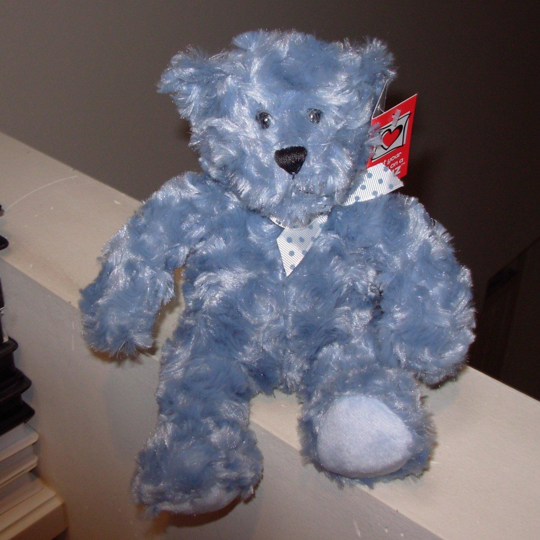BLUE RAINBOW BEAR TEDDYBEAR TEDDY BEAR PLUSH STUFFED ANIMAL NEW GANZ