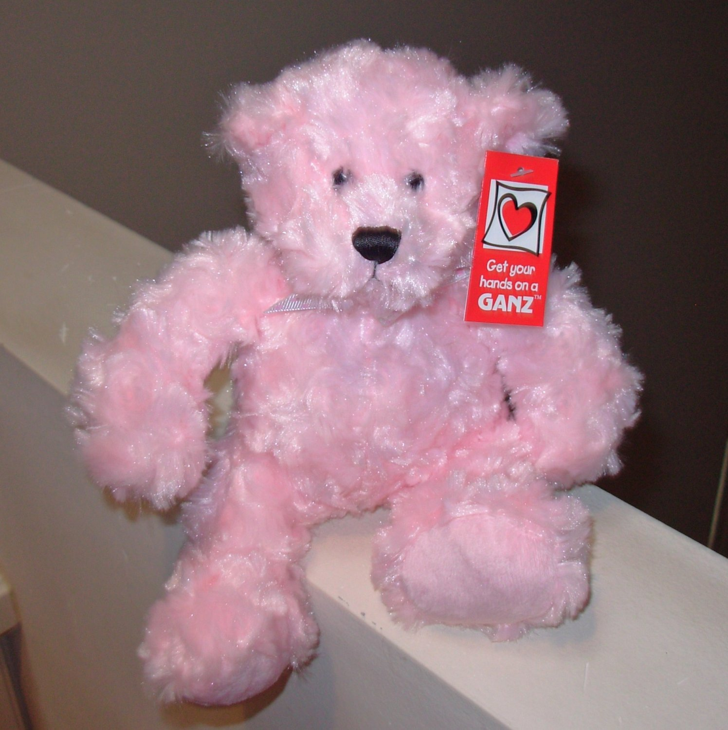PINK RAINBOW BEAR TEDDYBEAR TEDDY BEAR PLUSH STUFFED ANIMAL NEW GANZ