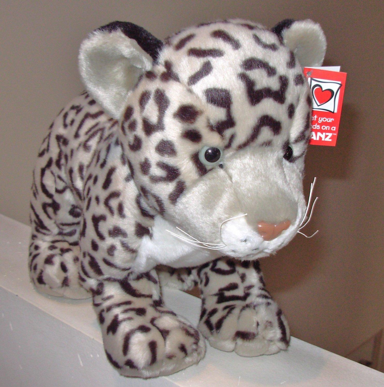 Large Snow Leopard Plush Stuffed Animal New Ganz Jungle Cats