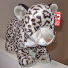 LARGE SNOW LEOPARD PLUSH STUFFED ANIMAL NEW GANZ JUNGLE CATS