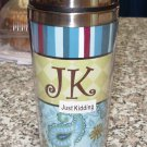 JK JUST KIDDING TRAVEL MUGS NEW GANZ INSULATED TEXT MUGS