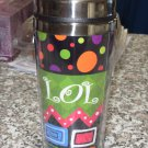 LOL LAUGH OUT LOUD TRAVEL MUGS NEW GANZ INSULATED TEXT MUGS