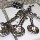MEASURING SPOONS SET GRAPES WINE HEAVY ZINC NEW GANZ BEAUTIFUL