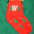CHRISTMAS STOCKING COIN PURSE CHRISTMAS TREES INITIAL W ORNAMENT NEW GANZ HOLIDAY GIFT DECOR