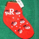 COIN PURSE INITIAL R CHRISTMAS STOCKING SNOWMAN ORNAMENT NEW GANZ HOLIDAY GIFT DECOR