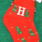 CHRISTMAS STOCKING COIN PURSE LETTER H CHRISTMAS TREES ORNAMENT NEW GANZ HOLIDAY GIFT DECOR