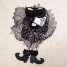 SEXY WITCH WINE BOTTLE COVER SNUGGLER COLLAR BLACK SKIRT AND BRA CUTE NEW GANZ