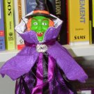 WITCH COSTUME WINE BOTTLE COVER AND CORK BOTTLE STOPPER NEW GANZ HALLOWEEN