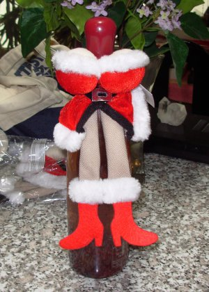 70d0772c94f SEXY MRS CLAUS COSTUME WINE BOTTLE COVER SNUGGLER ...