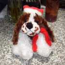 HOLIDAY SPRINGER SPANIEL PLUSH STUFFED ANIMAL PUPPY DOG BLACK AND WHITE NEW