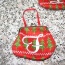 COIN PURSE ORNAMENT MONOGRAMED LETTER F HOLIDAY PERSONALIZED GIFT CARD HOLDER NEW GANZ