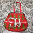 COIN PURSE ORNAMENT MONOGRAMED LETTER H HOLIDAY PERSONALIZED GIFT CARD HOLDER NEW GANZ