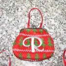MONOGRAMED LETTER R HOLIDAY COIN PURSE ORNAMENT PERSONALIZED GIFT CARD HOLDER NEW GANZ