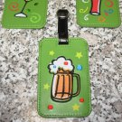 HAPPY HOUR BEER MUG LUGGAGE TAG FESTIVE UNMISTAKEABLE UNIQUE NEW GANZ