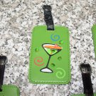 HAPPY HOUR MARTINI LUGGAGE TAG FESTIVE UNMISTAKEABLE UNIQUE NEW GANZ