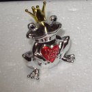 FROG FIGURINE SMALL ZINC FROG HOLDING A HEART SAYS I LOVE YOU NEW GANZ