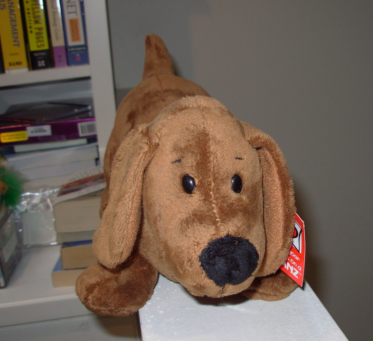 DIGGER BROWN DACHSHUND WEINER DOG PLUSH STUFFED ANIMAL DOG NEW 13 INCH PLUSH