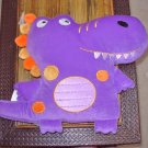 DINO PILLOW PURPLE DINOSAUR PILLOW NEW GANZ PLUSH STUFFED TOY