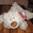 COLBY SMALL FLOPPY PLUSH STUFFED ANIMAL BEAR NEW GANZ STUFFED ANIMAL CREAM 12 INCH PLUSH