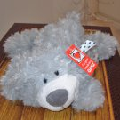 GRAY COLBY SMALL FLOPPY PLUSH STUFFED ANIMAL BEAR NEW GANZ STUFFED ANIMAL GREY 12 INCH PLUSH