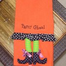 GUEST TOWEL PARTY GHOUL WITCH LEGS CUTE HALLOWEEN HOME DECOR NEW GANZ