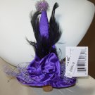 PURPLE WITCH HAT WINE BOTTLE CORK TOPPER NEW GANZ HALLOWEEN BAR DECOR
