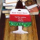 TIS THE SEASON HOLIDAY WINE GLASS SKIRT CHRISTMAS HOLIDAY  ADJUSTABLE WASHABLE NEW GANZ