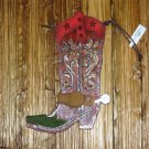 COWBOY BOOT ORNAMENT NEW GANZ CHRISTMAS HOME TREE DECOR